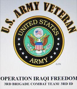 OPERATION IRAQI FREEDOM* 3RD BRIGADE COMBAT TEAM/ 3RD ID  W/ARMY EMBLEM*SHIRT