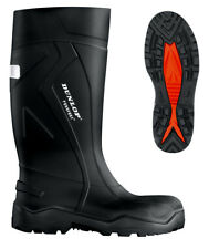 Dunlop Purofort + Plus Full Safety Welly Wellies Wellington Boots Black 6-13