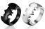 Anello-Fede-Anelli-Uomo-Donna-Acciaio-Massiccio-Argento-Nero-Batman-Incisioni miniatura 1
