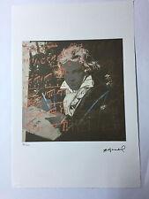 Andy Warhol Litografia 57 x 38 Arches France Timbro Secco Galleria Arte A005