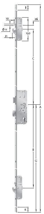 KFV  Türverschluss Mehrfachverriegelung AS 2750 55 92 8 20mm Stulp 3483607  | Genial Und Praktisch  | Elegant und feierlich  | Die Qualität Und Die Verbraucher Zunächst  | Hohe Qualität