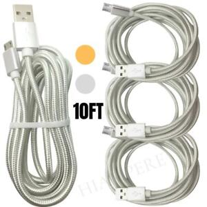 10Ft Android Micro USB Fast Charger Cable Data Sync Charging Cord For Samsung LG