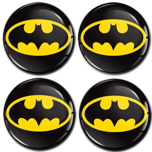 4 x Silicone Domed Stickers For Wheel Centre Hub Caps Batman Badge Emblem A 4