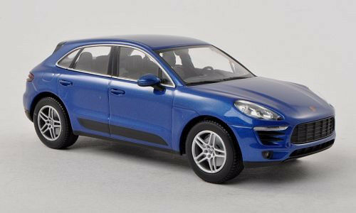 Wonderful PR-modelcar PORSCHE MACAN S 2014 - bluee metallic - scale 1 43