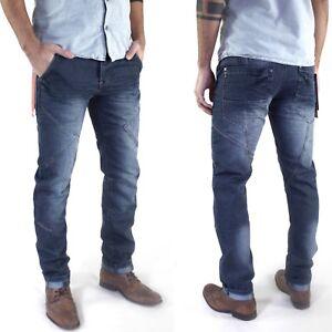 Justboy-Herren-Designer-Slim-Skinny-Fit-Roehren-Jeans-Hose-mit-Ziernaehten
