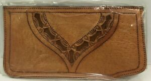 9b291580309 VINTAGE 1970'S MEXICAN HAND TOOLED LEATHER EYEGLASS CASE NEW IN ...