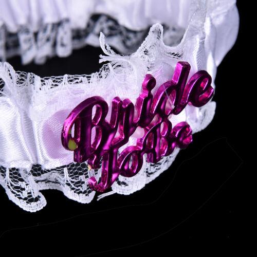 White Bride to Be White Garter Hen Night Bachelorette Party Shower Accessory、Pop