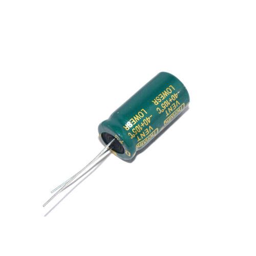 10Pcs 50V 1000uF Radial Electrolytic Capacitors Volume 1000uF50V 13x25 mm
