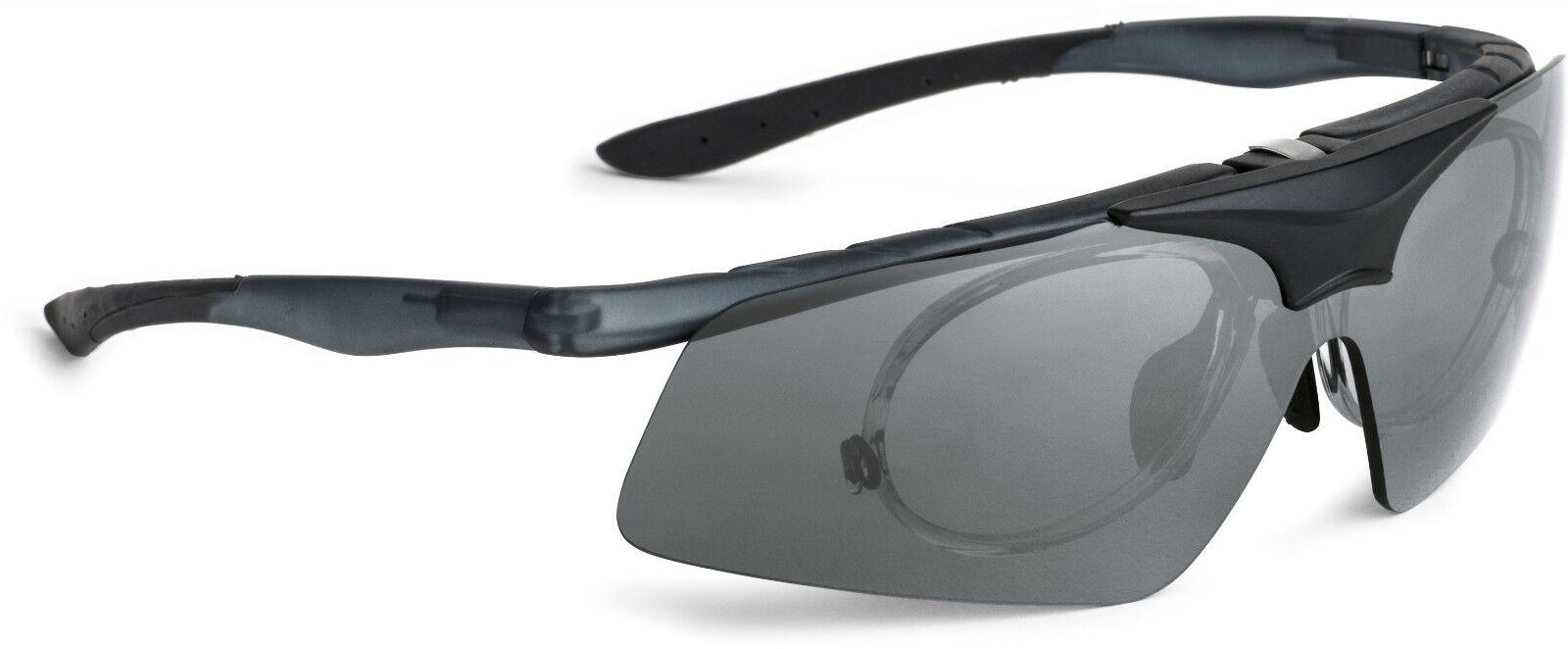 Sportbrille grey matt Unisex Sonnenbrille klappbar mit Innenclip Neu