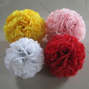 Wedding party home decoration flower kissing ball colorful silk rose image is loading wedding party home decoration flower kissing ball colorful mightylinksfo