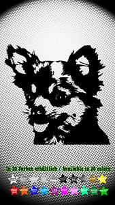 Chihuahua-Hundeaufkleber-Dog-Hund-Auto-Aufkleber-Sticker-10cm-x-9cm