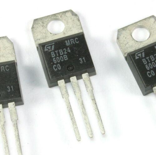 4pcs STMicroelectronics BTB24-600B Thyristor TRIAC 600V 260A 3-Pin Tab TO-220AB