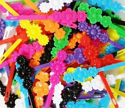 LOT OF 24 DAISY FLOWER BARRETTE ALLIGATOR CLIP GIRL SCHOOL CHURCH DRESS ORANGE