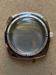 Yema Lip GMT World Skin Diver Watch 1970's Case Montre Plongee Boite NOS 38mm