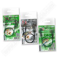 Fishing Wire Traces 30cm 18kg 40lb Leader Coated Green Black Sea Pike Tackle