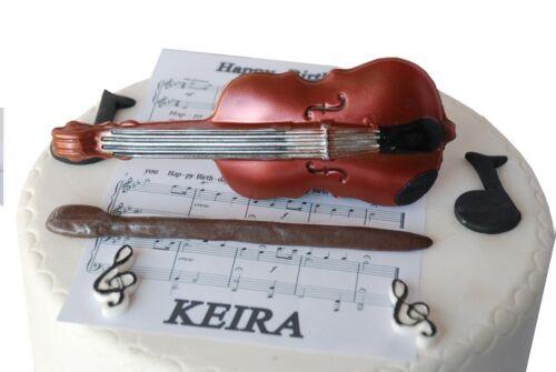 Viola Set Handmade Gift or Cake Topper Decoration. Chocolate Violin