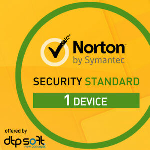NORTON SECURITY Standard 2019 1 Gerät 1 Jahr 1 PC MAC 2018 Internet Security DE