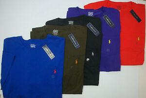 NWT-45-Polo-Ralph-Lauren-Pony-Pocket-T-Shirt-Mens-SS-XLT-LT-2XLT-3XLT-Red-NEW