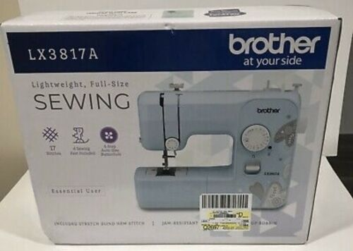 Brother LX3817A 17 Stitches Jam Resistant Full size Sewing Machine NEW Aqua Blue