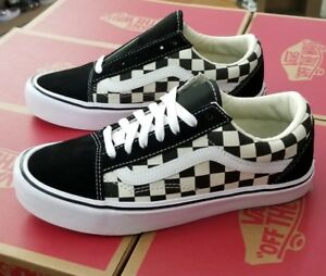Vans Old Skool Lite Checkerboard Black White Men Vn0a2z5w5gx Ebay