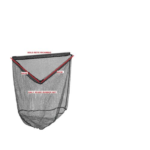 Net Replacement Rubberized for Landing Fishing a Triangular Rubber