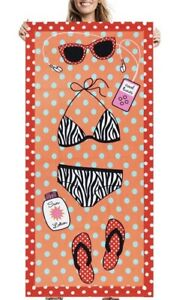 Pool Fun Yard, Garden & Outdoor Living Flip Flops Zebra Bikini Sunglasses Rectangle Beach Towel High Quality Goods