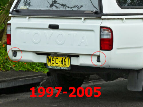 Genuine Toyota Hilux 1988-2005 LN85 Tailgate tray Bumper rubber 2X Truck Pickup