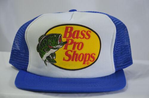 VTG Bass Pro Shop Mesh Snap Back Trucker Cap Hat New Old Stock NWoT Blue White