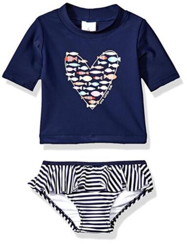 Kiko /& Max Infant Girls Navy Star Rashguard Swim Set Size 3//6M 6//9M 12M 18M 24M