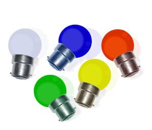 Lot-de-25-ampoules-LED-SMD-B22-R-V-B-J-BL-resistance-aux-chocs-2W-equiv-15W