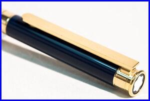 1984-MONTBLANC-Kugelschreiber-NOBLESSE-Nacht-Blauer-China-Lack-amp-Gold-Sehr-Gut