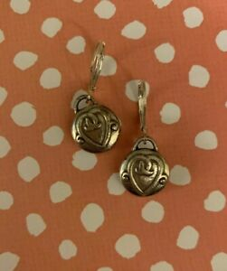 Brighton-CHERISH-Hearts-Dangle-Silver-Custom-Earrings