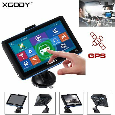 "XGODY 7"" GPS Navigation Truck Car Sat Nav New UK EU Maps For HGV Lorry LGV Black"