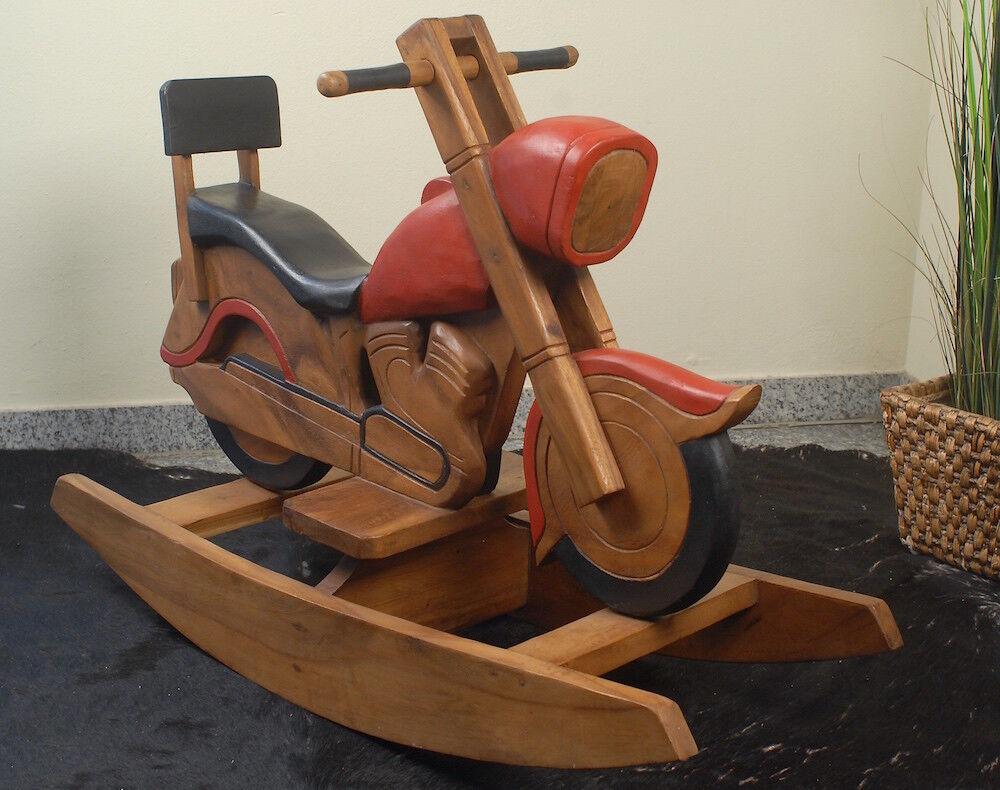 Schaukelmotorrad aus Holz, Chopper, Motorrad, Schaukelpferd, Deko, Kindergarten