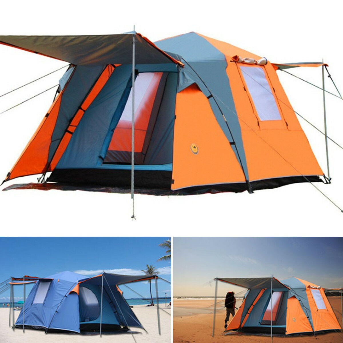 3-4 People Portable Waterproof Pop up Tent Camping Fishing Beach Outdoor Canopy