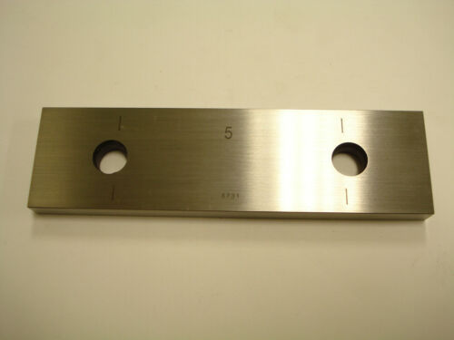 """Gauge Block 5.000/"""" Steel Rectangular ASME Gage Grade 0 CMI2500"""