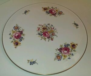 Image is loading Royal-Worcester-Cake-Plate-Bournemouth-Beautiful-Floral-11- & Royal Worcester Cake Plate Bournemouth Beautiful Floral 11