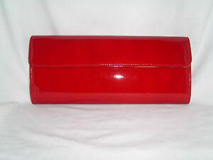 Grande borsa tracolla in a pochette rossa vernice TTPwF7q