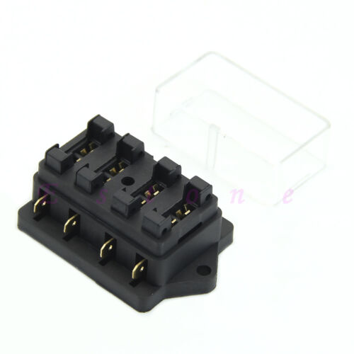4 WAY CAR VEHICLE CIRCUIT BLADE FUSE BOX//HOLDER STANDARD BLOCK HOLDER NEW