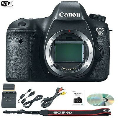 Canon EOS 6D Body Digital SLR / DSLR Camera (BLACK)