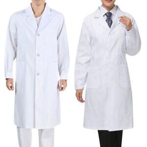 e14f2d314ae Women Men Lab Coat Medical Doctor Coats Long Jackets Nursing Clothes ...