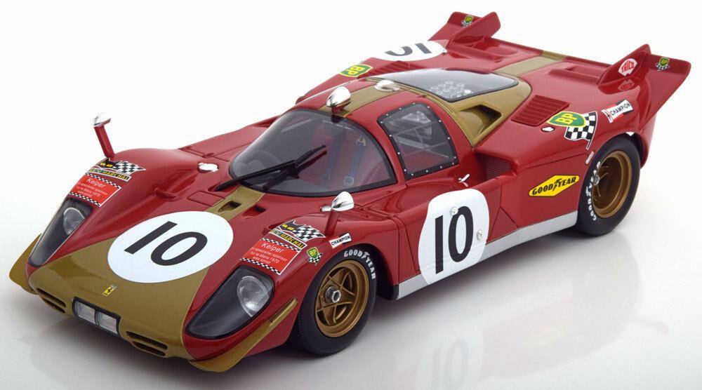 CMR Ferrari 512 S 24h Le Mans 1970 Kelleners Loos en escala 1 18 En Stock