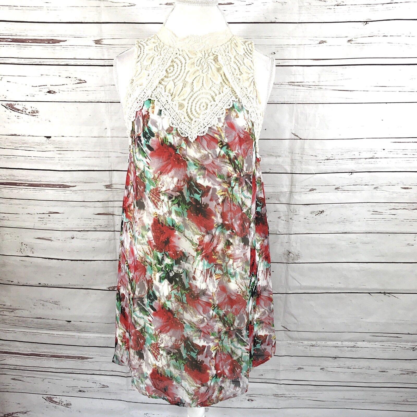 Anthropology Entro  Woherren Tunic Dress Lace Floral Größe M NWT