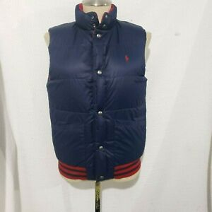 RALPH LAUREN RED/BLUE REVERSIBLE QUILTED PUFFER GOOSE DOWN ...