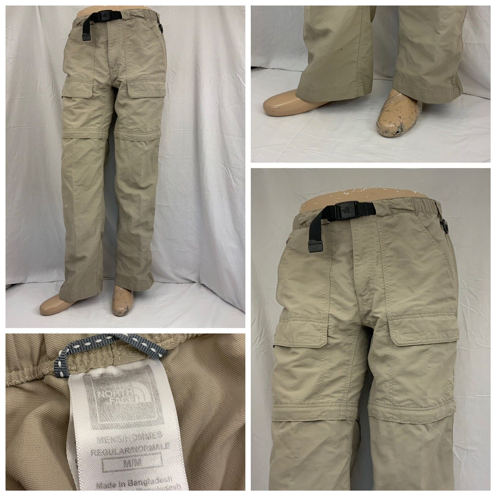 The North Face Pants M Tan 100% Nylon  Hiking Congreenible Cargo GUC YGI Y8-119  on sale