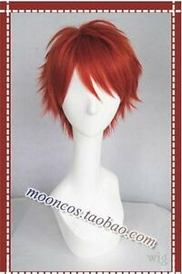 210 Uta no Prince-sama Ittoki Otoya Short Red mix Cosplay Wig free shipping
