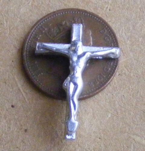 1:12 Maßstab Silber Farbe Metall Wand Kruzifix Tumdee Puppenhaus Kirche Kreuz