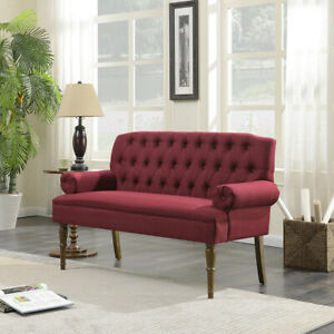 Vintage Sofa Settee Couch On Tufted