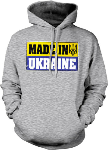Made In Ukraine Flag Colors Ukrainian Pride Country Born From Hoodie Sweatshirt