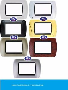 Plaque-Bticino-living-Compatible-3-4-7-modules-Various-Models-Colors-Living